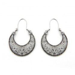 Hollow Out Big Moon Drop Earrings