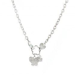 Butterfly Floral Rhinestone Necklace