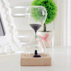 Home Decor Creative Magnet Timer Hourglass - BLACK