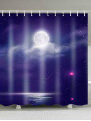 The Sea of Night Waterproof Fabric Shower Curtain