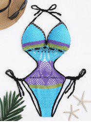 Crochet Halter One Piece Swimsuit