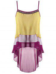 Layer Embroidered Asymmetrical Tank Top