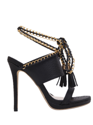Tassels Chains Lace Up Sandals