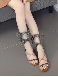 Tie Up Cross Straps Sandals
