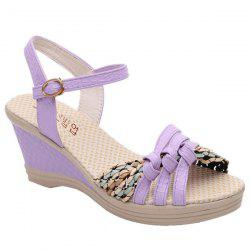 Weaving Wedge Heel Knot Sandals