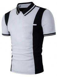 Color Block Panel Varsity Stripe Polo T-Shirt