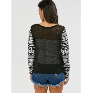 Collarless Open Front Asymmetric Cardigan - BLACK S