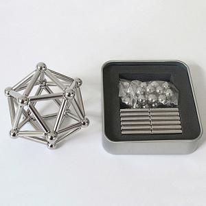Creative Toy DIY Magnetic Geometric Puzzle Buckyball - Silver