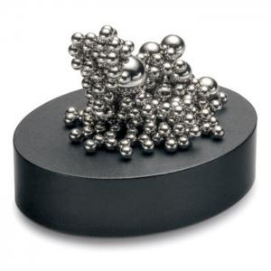 Stress Relief Toy Magnetic Holder with Stainless Steel Balls - SILVER
