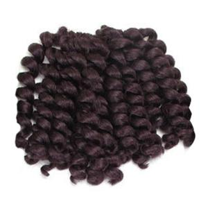 1 Piece Wand Curl Afro Synthetic Hair Extension - Dark Auburn