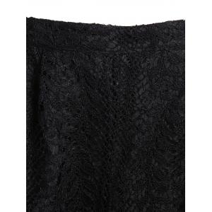 High Waisted Lace Double Layer Shorts - BLACK S