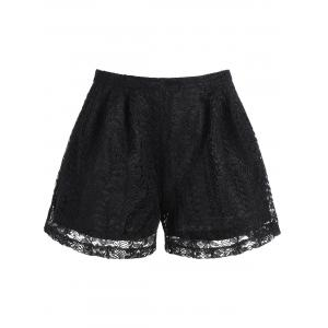 High Waisted Lace Double Layer Shorts