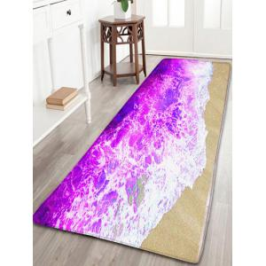 Sea Tides Skidproof Flannel Water Absorption Bath Rug