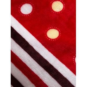 Polka Dot Print Super Soft Sofa Nap Throw Blanket - Rouge Reine