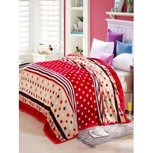 Polka Dot Print Super Soft Sofa Nap Throw Blanket