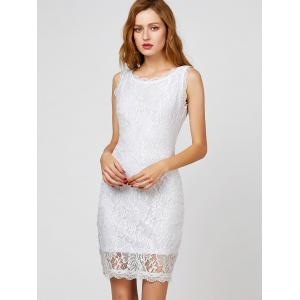 Sleeveless Lace Short Cocktail Dress -