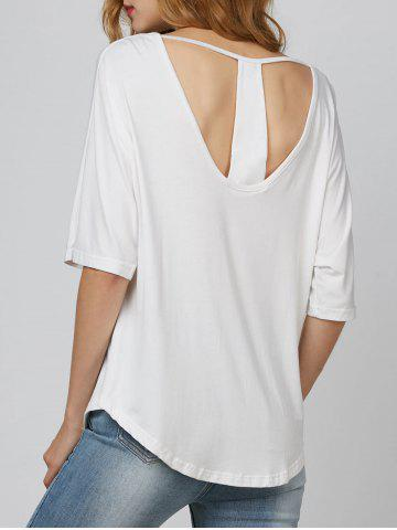 Cut Out Oversized Tee - White - S