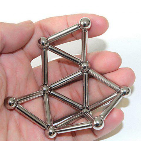 Hot Creative Toy DIY Magnetic Geometric Puzzle Buckyball - SILVER  Mobile