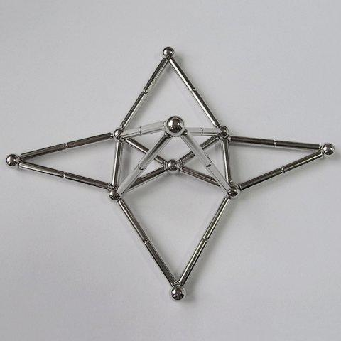 Chic Creative Toy DIY Magnetic Geometric Puzzle Buckyball - SILVER  Mobile