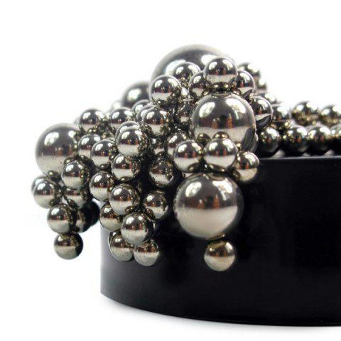 Chic Stress Relief Toy Magnetic Holder with Stainless Steel Balls - SILVER  Mobile