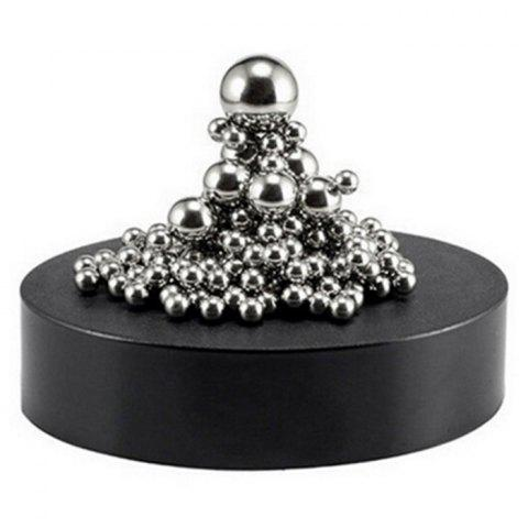 Best Stress Relief Toy Magnetic Holder with Stainless Steel Balls - SILVER  Mobile