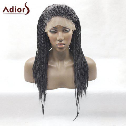 Buy Adiors Long Twist Braid Lace Front Synthetic Wig - JET BLACK 01#  Mobile