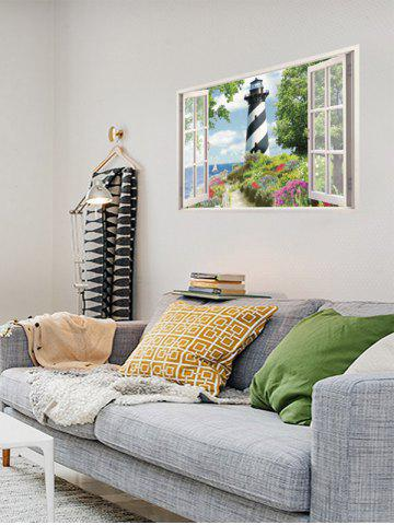 Online Flower Tower Fake 3D Window Wall Sticker - COLORFUL  Mobile