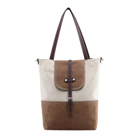 Sale Canvas Color Block Shoudler Bag