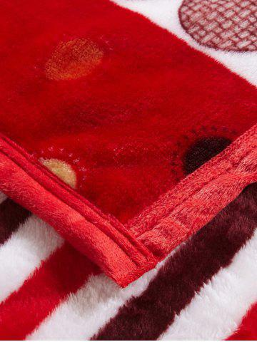 Affordable Polka Dot Print Super Soft Sofa Nap Throw Blanket - QUEEN RED Mobile