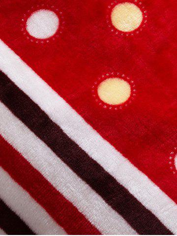 Discount Polka Dot Print Super Soft Sofa Nap Throw Blanket - QUEEN RED Mobile