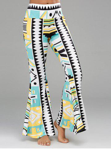 Shop Geometric Print Long Palazzo Flare Pants
