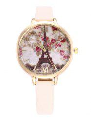 Eiffel Tower Floral Roman Numeral Watch