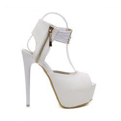 Platform Stiletto Heel Peep Toe Sandals