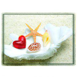 Beach Shell Starfish Water Absorbing Bathroom Floor Mat