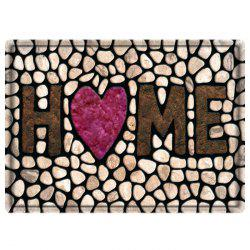 Stone Home Heart Water Absorbing Bathroom Floor Mat