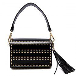 Rivets Tassel Shoudler Bag