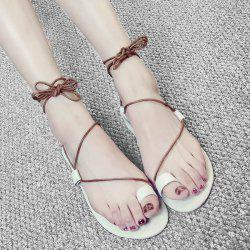Tie Up Toe Ring Sandals