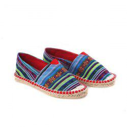 Striped Espadrilles Flat Shoes
