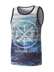 Nature Sea Graphic Mesh Tank Top