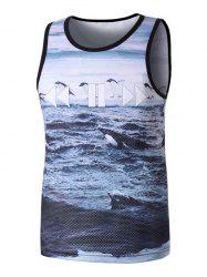 The Last Ocean Antarctica Pattern Tank Top