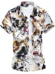 Chinese Ink Painting Short Sleeve Shirt
