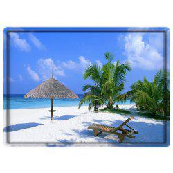 Beach Sky Tree Water Absorbing Bathroom Floor Mat