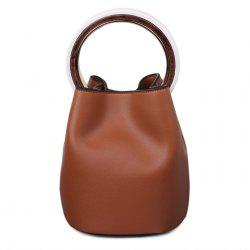 Top Handle Bucket Bag with Pouch Bag -