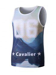 Tie Dye Graphic Print Tank Top - COLORMIX