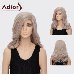 Adiors Long Slightly Curly Side Parting Layered Synthetic Wig