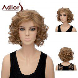 Adiors Short Side Part Layered Shaggy Wavy Synthetic Wig -