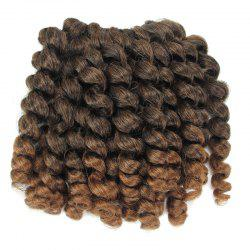 1 Piece Wand Curl Afro Synthetic Hair Extension - GRADUAL BROWN
