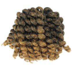 1 Piece Wand Curl Afro Synthetic Hair Extension - COLORMIX