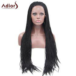 Adiors Long Silky Micro Afro Braid Lace Front Synthetic Wig