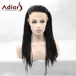 Adiors Afro Twist Braids Long Lace Front Synthetic Wig